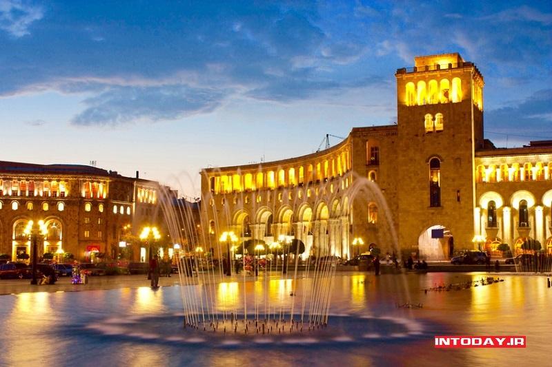 تصاویر میدان جمهوری ایروان ارمنستان