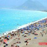عکس ساحل لارا شهر آنتالیا در ترکیه