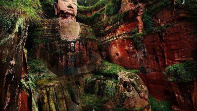 تصویر از مجسمه بودای بزرگ لشان چین بزرگ ترین مجسمه سنگی جهان