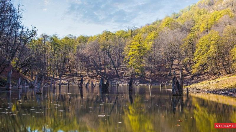 تصویر از مسیر دریاچه چورت