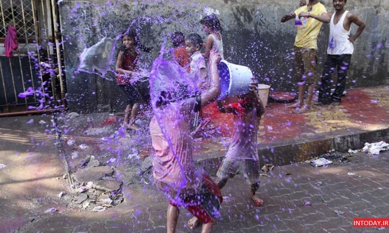 تصاویر جشنواره هولی هند | جشن رنگ هندوستان