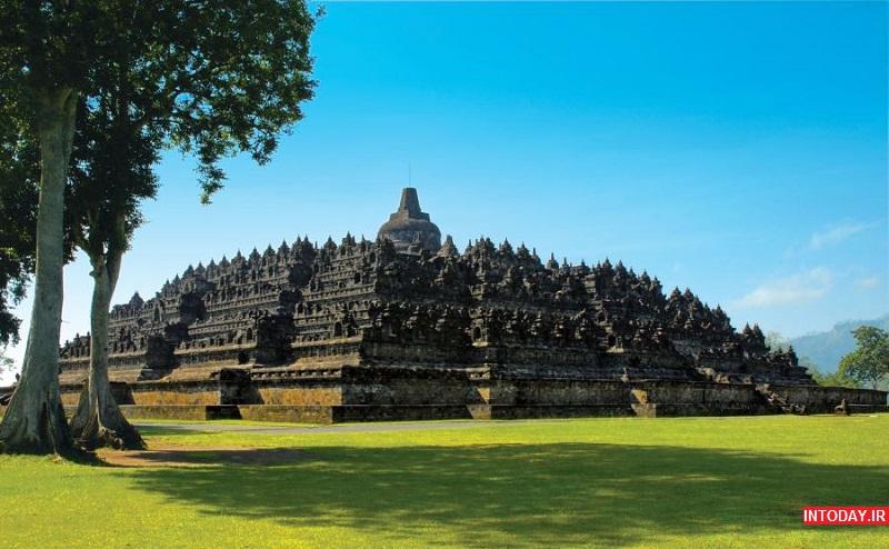 عکس معبد بوروبودور اندونزی