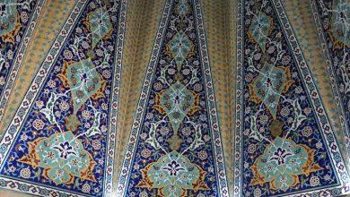 سقف مقبره باباطاهر