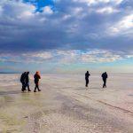 عکس دریاچه نمک حوض سلطان قم