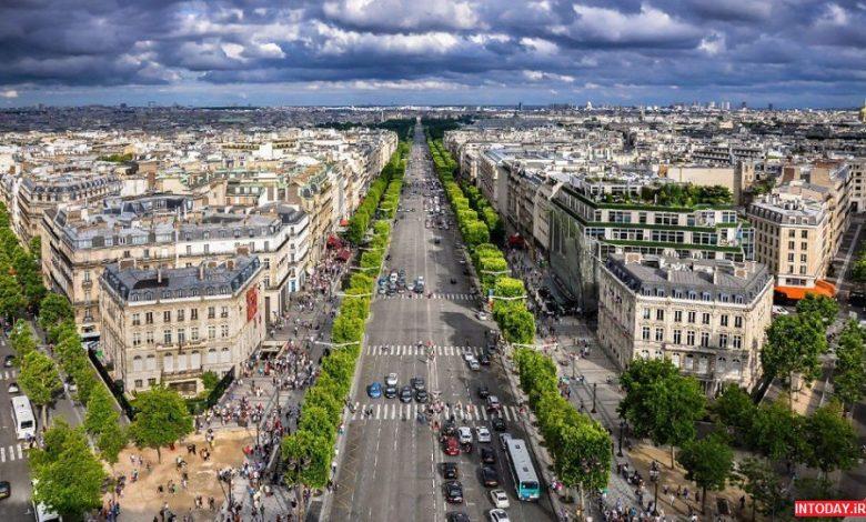 عکس خیابان شانزلیزه پاریس