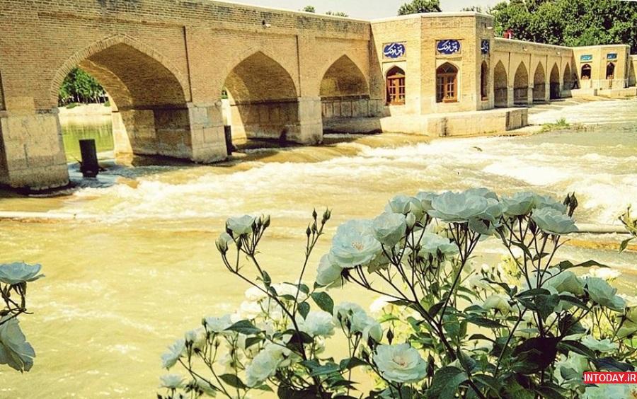 عکس پل چوبی اصفهان