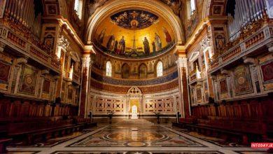 تصویر از کلیسای باسیلیکای سنت جان لاتران رم باروک 140 متری