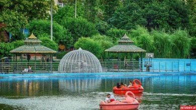 تصویر از پارک المهدی تهران با دریاچه مصنوعی و راهنما