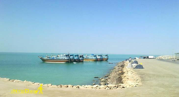 خلیج پزم از جاهای دیدنی چابهار