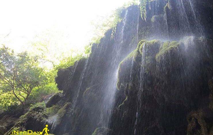 آبشار باران کوه گرگان در استان گلستان