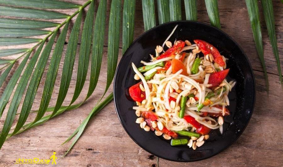 سالاد پاپایای سبز تایلندی
