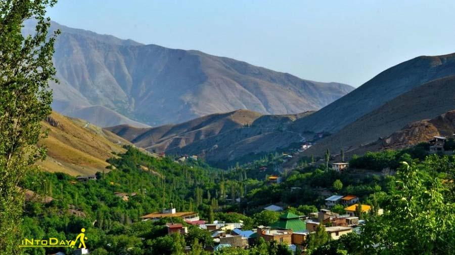 روستای افجه نرسیده به دشت هویج