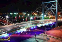 تصویر از پل کابلی امام رضا آبادان