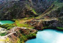 تصویر از دریاچه دوقلوی سیاه گاو آبدانان