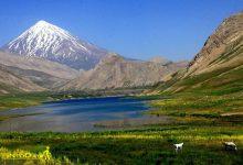 Photo of دریاچه دوخواهران لاریجان در دشت دریوک