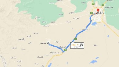 فاصله سرعین تا اردبیل با نقشه
