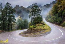 تصویر از جاده جنگلی سیاهکل به دیلمان