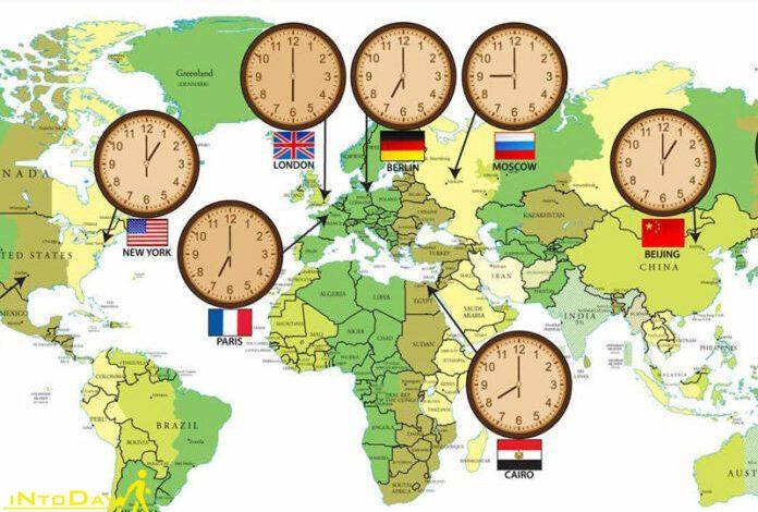 اختلاف ساعت ایران با سایر کشورها
