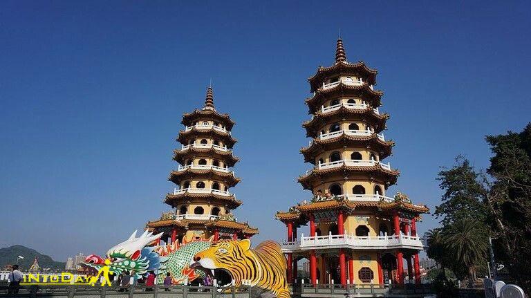 پاکودا اژدها و ببر از اماکن مذهبی تایوان