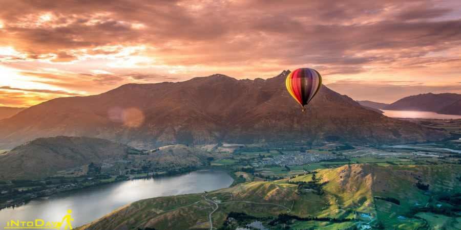 بالن سواری در شهر کوییز تاون نیوزیلند