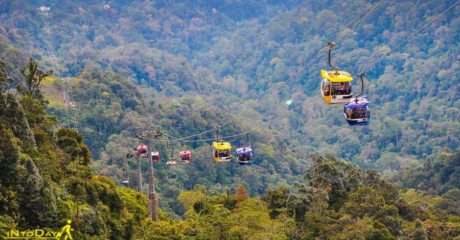 عکس تله کابین آوانا اسکای وی در گنتینگ هایلند مالزی