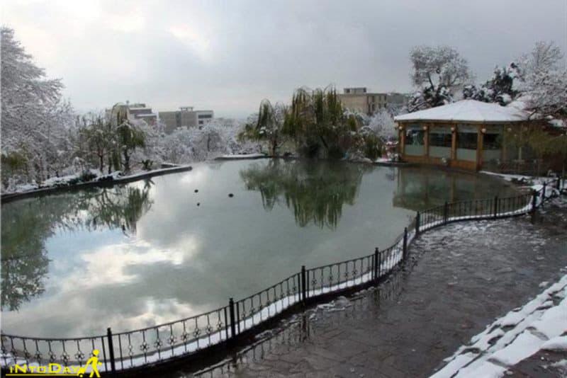 پارک ایران زمین کرج در زمستان