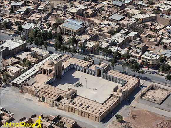 تصویر هوایی از مسجد ملک کرمان