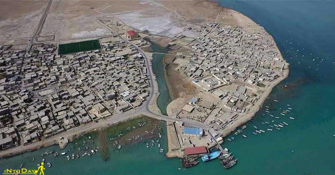 عکس هوایی جزیره شیف بوشهر